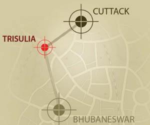 Location Map Trisulia, Cuttack